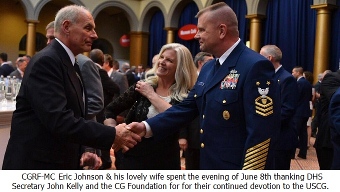 CGRF-MC Eric Johnson shake the hand of DHS Secretary John Kelly