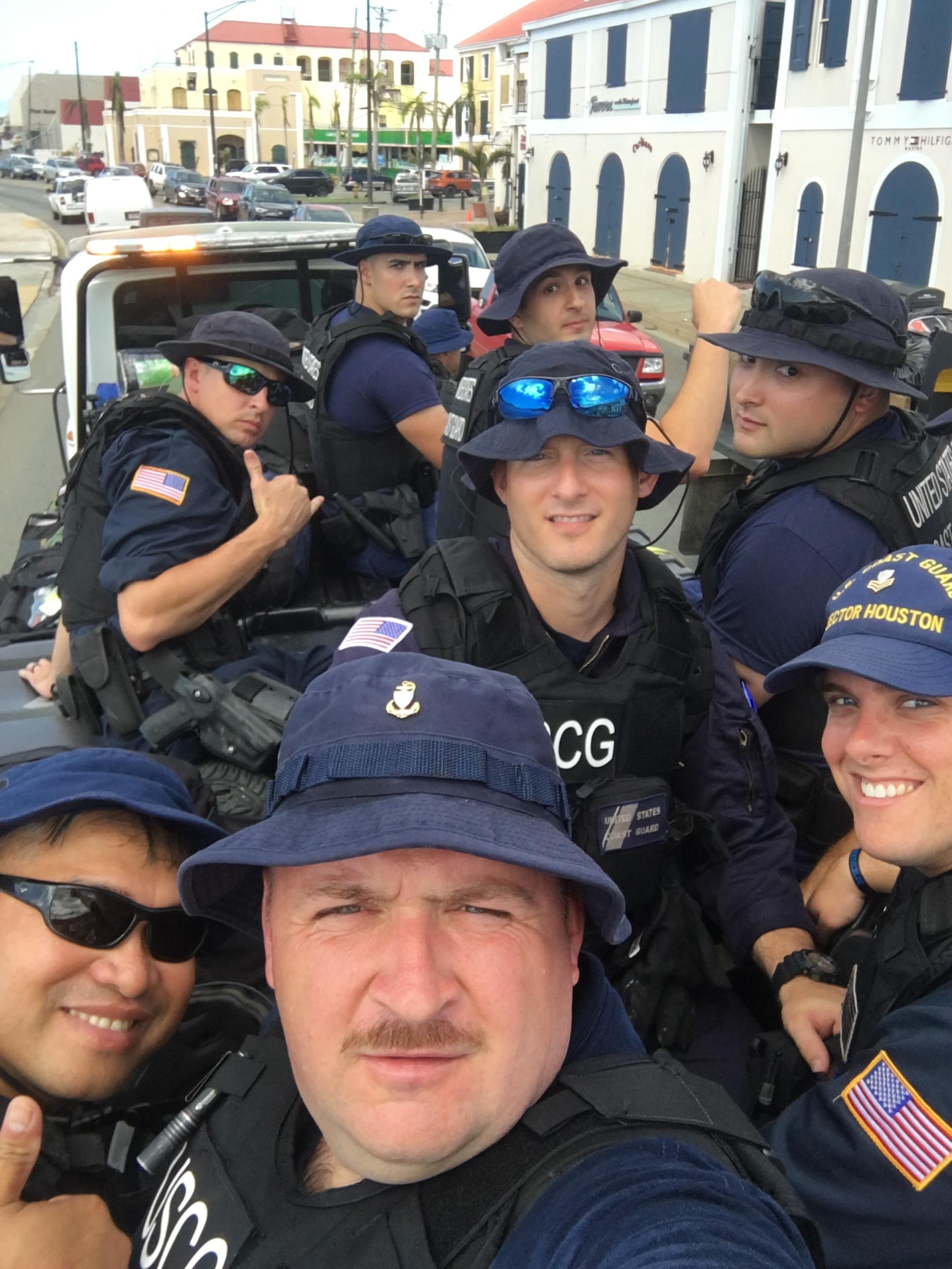 Chief Petty officer Michael Bazzrea and crew selfie