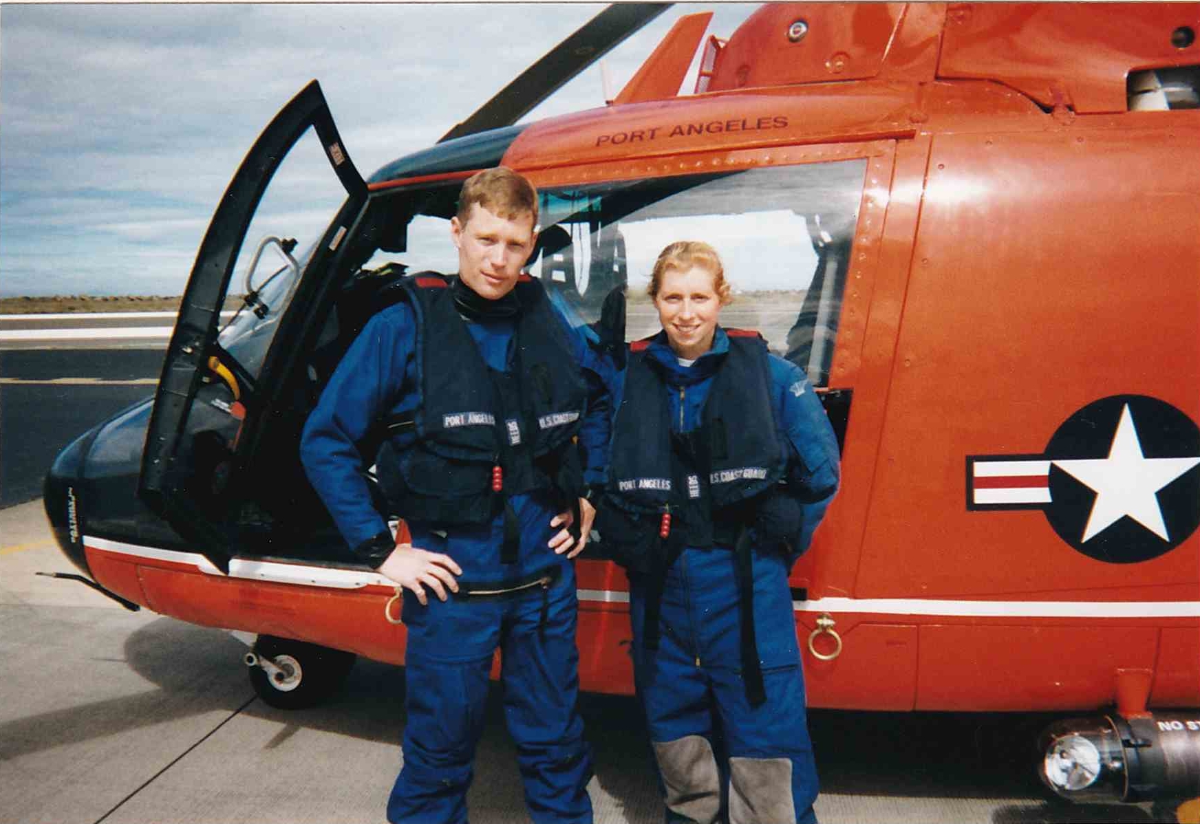 Mark and Joanna, circa 2000, during Mark's first tour at Coast Guard Air Station Port Angeles.